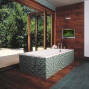 Image of a bathroom with colours that mimic architecture, estate, floor, flooring, interior design, real estate, black