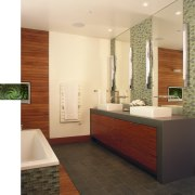 Image of a bathroom with colours that mimic bathroom, floor, flooring, interior design, room, tile, white
