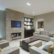 Instant heat at the flick of a switch ceiling, home, interior design, living room, property, real estate, room, gray