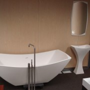 Image of high-end bathroom products available at The bathroom, bathroom sink, bathtub, ceramic, interior design, plumbing fixture, product design, sink, tap, toilet seat, brown