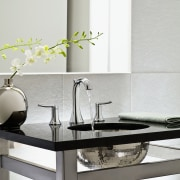 Image of high-end bathroom products available at The ceramic, coffee table, furniture, interior design, product design, sink, table, tap, gray, white