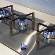 View of Smeg cooktop available from Applico. - product, product design, technology, gray, black