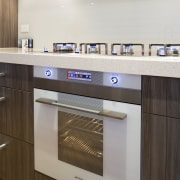 View of the Smeg SC112EB oven available from countertop, home appliance, interior design, kitchen, kitchen appliance, kitchen stove, major appliance, oven, gray