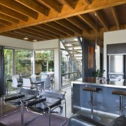 View of kitchen with stainless steel kitchen island, interior design, real estate, brown, gray