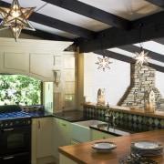 Image of kitchen designed by Debra DeLorenzo which ceiling, countertop, cuisine classique, daylighting, interior design, kitchen, white, brown