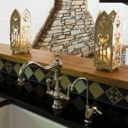 Image of kitchen designed by Debra DeLorenzo which countertop, furniture, interior design, room, table, black, white