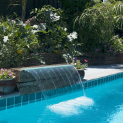 view a pool built and designed by Pool backyard, landscape, landscaping, leisure, plant, pond, resort, swimming pool, tree, water, water feature, water resources, watercourse, teal, black