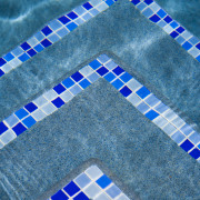 Image of the pool which has been designed aqua, azure, blue, design, line, pattern, textile, turquoise, teal