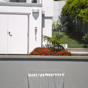 Image of the pool which has been designed house, property, swimming pool, water, window, gray, white