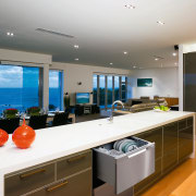 View of a kitchen with Fisher & Paykel's countertop, interior design, kitchen, real estate, white