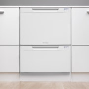 View of a kitchen with Fisher & Paykel's drawer, filing cabinet, furniture, home appliance, kitchen appliance, major appliance, product, product design, sideboard, white