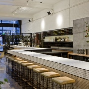 View of the St Judes Cellar bar and interior design, gray