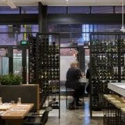 View of the St Judes Cellar bar and interior design, restaurant, black