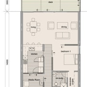 View of the architectural plans for apartment. - area, diagram, drawing, floor plan, line, plan, product, product design, technical drawing, white