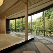 View of the Japanese room with wood, cloth architecture, estate, home, house, interior design, property, real estate, window, brown