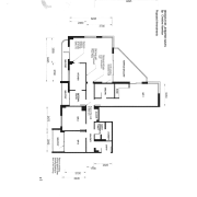 View of plans for this apartment kitchen. - angle, area, black and white, design, diagram, drawing, floor plan, font, line, plan, product design, schematic, text, white