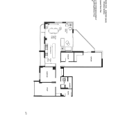 View of plans for this apartment kitchen. - angle, area, black and white, design, diagram, drawing, floor plan, font, line, plan, product, product design, schematic, square, text, white