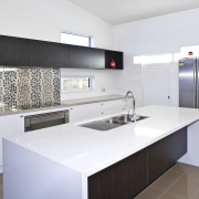 View of kitchen of a DRH show home cabinetry, countertop, interior design, kitchen, product design, real estate, room, white