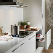View of a kitchen which features appliances from countertop, home, home appliance, interior design, kitchen, room, gray