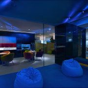 View of the games room which is part architecture, blue, ceiling, interior design, lighting, blue