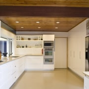 view of a kitchen which features white-lacquered cabinetry cabinetry, ceiling, countertop, cuisine classique, interior design, kitchen, property, real estate, white, brown
