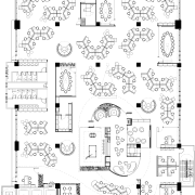 View of plans for the interior fit-out. - area, black and white, design, diagram, drawing, floor plan, font, line, line art, monochrome, pattern, plan, product, product design, technical drawing, text, white