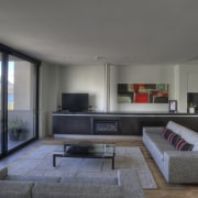 View of the lounge which is part of apartment, architecture, house, interior design, living room, real estate, gray