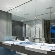 Contemporary bathroom with unique bathtub - Contemporary bathroom architecture, bathroom, ceiling, daylighting, glass, interior design, gray