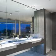 Contemporary bathroom with unique bathtub - Contemporary bathroom interior design, gray, black