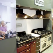 View of a Kitchen Things showroom which features countertop, interior design, kitchen, kitchen appliance, room, white, gray