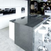 View of a Kitchen Things showroom which features countertop, floor, flooring, granite, kitchen, product design, white