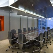View of the main boardroom which features a ceiling, conference hall, interior design, office, gray, black