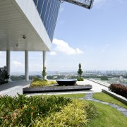 Exterior view of one of the sky gardens architecture, condominium, grass, real estate, sky, water, white