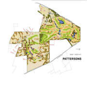 conceptual view of the residential lots proposed for area, map, product design, white