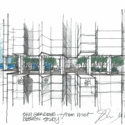 View of a conceptual drawing of the proposed architecture, design, diagram, drawing, elevation, engineering, line, product design, public utility, sketch, structure, white
