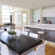 internal kitchen overview of Oak Manor,bench tops built countertop, interior design, kitchen, real estate, table, gray