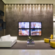 View of the seating area in the foyer ceiling, interior design, living room, lobby, brown, gray
