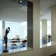 View of the condominium with warm chocolate hickory glass, interior design, window, gray