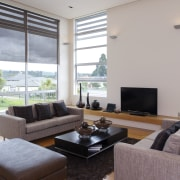 interior view of a new home in albany.PTG daylighting, house, interior design, living room, property, real estate, window, gray