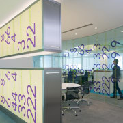 The new Zain headquarters in Bahrain reflects the gray