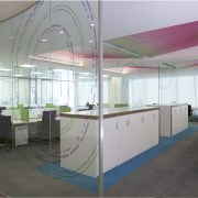 The new Zain headquarters in Bahrain reflects the ceiling, conference hall, daylighting, interior design, office, gray