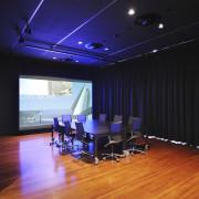 Architectural firm Coz Howlett & Bailey Woodland relocated auditorium, ceiling, floor, flooring, interior design, room, studio, black