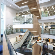 The NZI Centre in Auckland is the first architecture, building, daylighting, interior design, lobby, mixed use, shopping mall, white