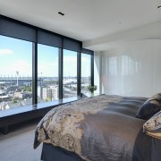 Apartment Interiors were designed by London architect Claudio architecture, bedroom, ceiling, condominium, estate, interior design, penthouse apartment, property, real estate, room, window, gray