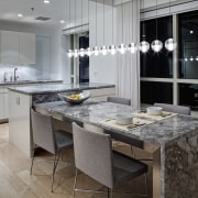 View of kitchen designed by Massey Hoffman Architects cabinetry, countertop, cuisine classique, floor, flooring, interior design, kitchen, room, gray, black