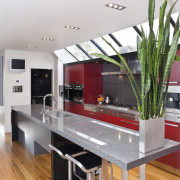 View of the living spaces featuring Asian oak countertop, interior design, kitchen, real estate, white