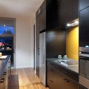 This new kitchen designed by Nicola Mason of countertop, interior design, kitchen, property, real estate, room, black