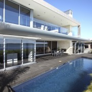 View of Pool resource pools - View of estate, family car, house, property, real estate, resort, swimming pool, villa, window