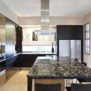 So this area looks good even when the cabinetry, countertop, cuisine classique, interior design, kitchen, real estate, room, gray