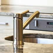 A new layout ensures views take priority.Mood lighting plumbing fixture, product design, tap, white